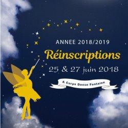 Dates réinscriptions / inscriptions annee 2018/2019